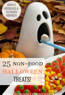 If you need some ideas for non-food Halloween treats, check out these ideas. You, your dentist, and your kids will be happy!
