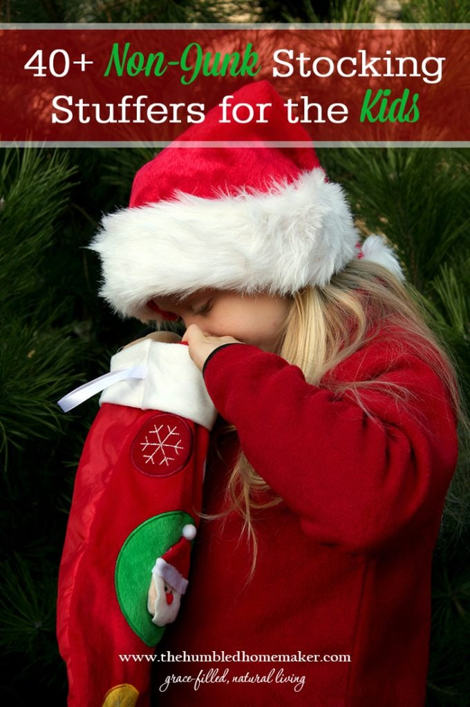 If you need some non-junk stocking stuffers for kids, you've come to the right place! We've decided to only stock our kids' stockings with non-junk stocking stuffers!