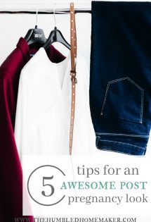 It is possible to create an awesome wardrobe that will hide the mummy tummy! Check out these 5 ways to do it!
