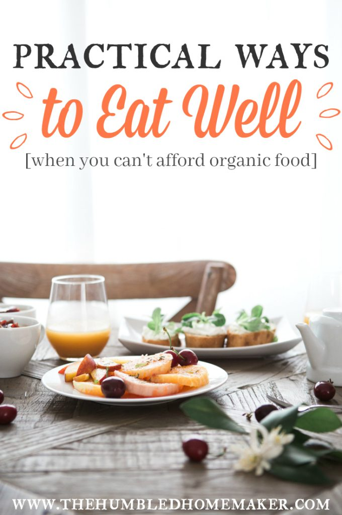I remember feeling bad because we couldn't afford organic food, and I wanted to feed my children healthy food. Guess what?! I learned that you CAN feed your family well on a tight budget—organic or not!