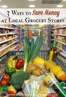 While most families shop at more than one grocery store, it's convenient to know how to save money at the one closest to your house. These 3 ways to save money at local grocery stores will help you make the most of your time and money!