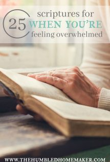 25 Scriptures for When You're Feeling Overwhelmed