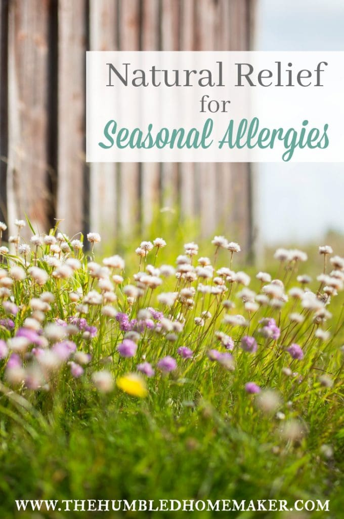 I suffered with seasonal allergies for years—and I hate taking allergy meds! These natural remedies to relieve seasonal allergies really work!