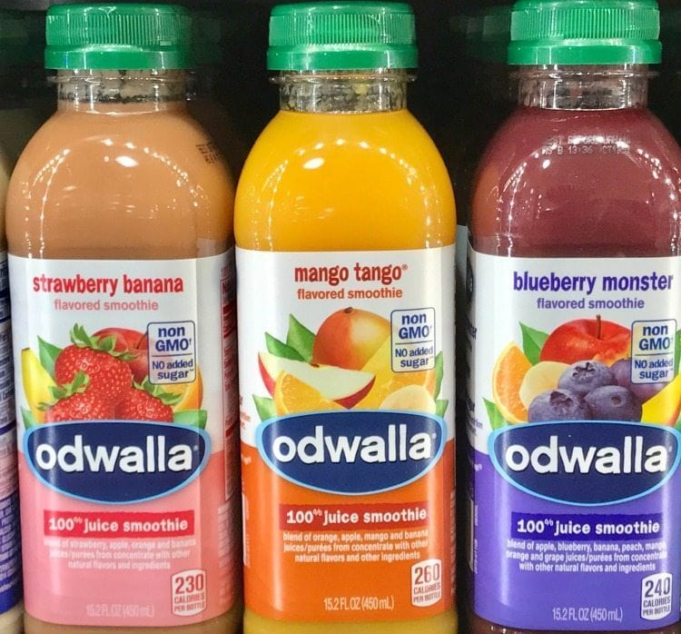 Kroger carries a variety of healthy juices, like Odwalla juice smoothies.