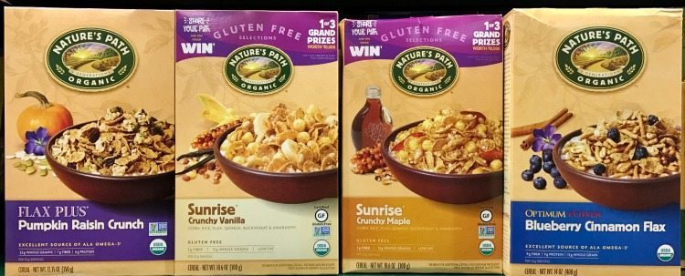 Nature's Path Organic Granola Cereals are available at Kroger.