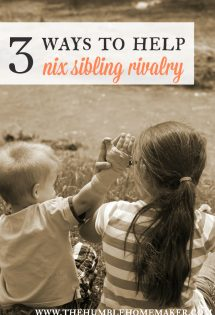 3 Ways to Help Nix Sibling Rivalry