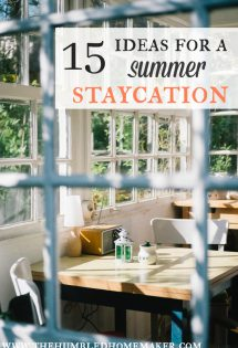 15 Ideas for a Summer Staycation
