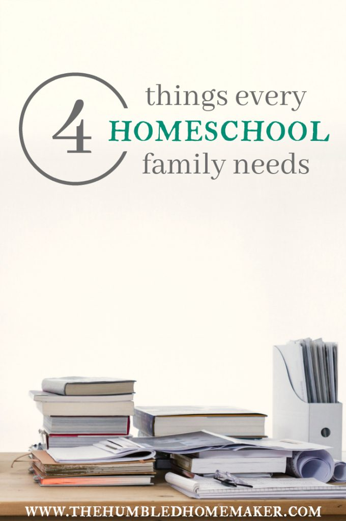 There are 4 things every homeschool family needs. Don't start your homeschool year without these must-haves!
