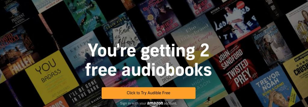 try Audible for free and get free books